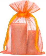 Large organza bags 20x28cm orange