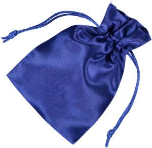 Satin smykke pose blå 10x15cm (2)