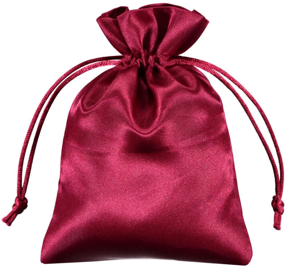 Satin smykke pose rød 10x15cm (6)
