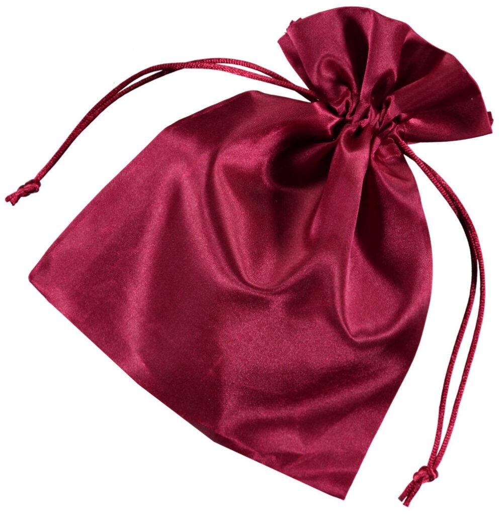 Satin smykke pose rød 15x20 cm (5)