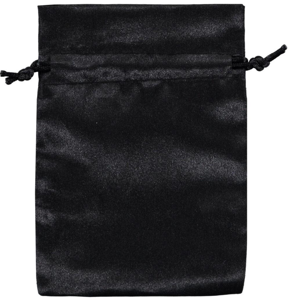 Satin smykke pose sort 10x15 cm (3)