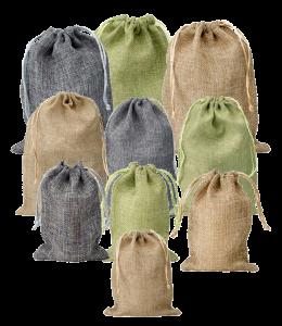 mini jute bags set