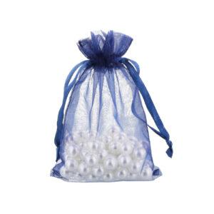 organza bag 10x15cm navy blue