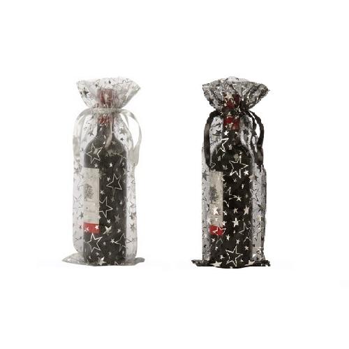 Organza flaske tasker vin stjerner