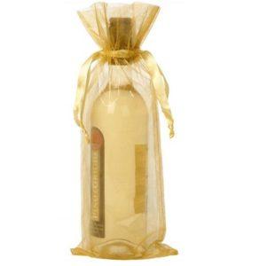 Organza flaske gave poser guld