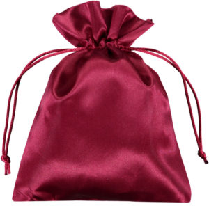 Satin smykke pose rød 15x20 cm (7)