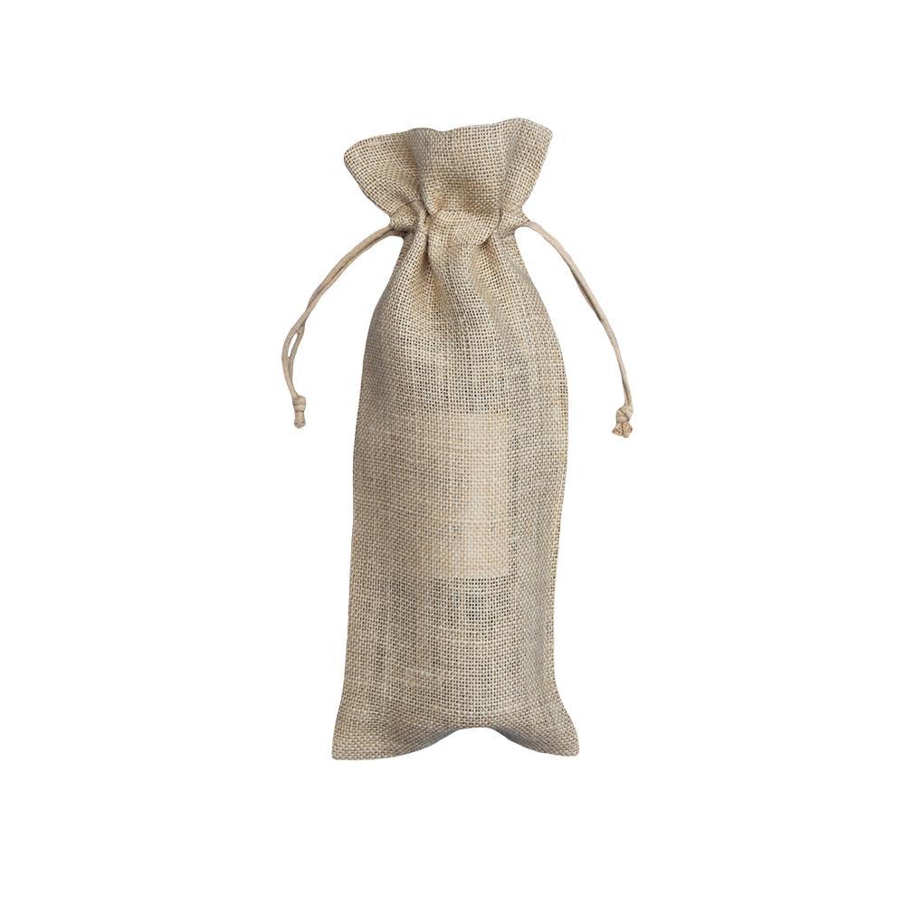 50 stykker biologisk nedbrydelige Jute-flaskeposer 15x38cm