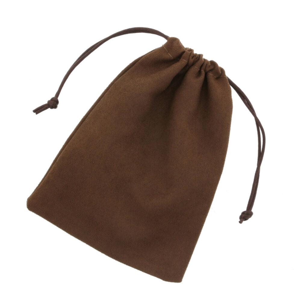 100 stykker Ruskind Poser 12x16cm chokolade brun