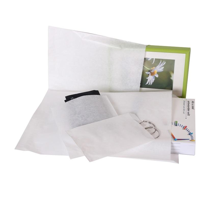 1000 stykker Papierposer Hvid et valg af flere størrelser (3)