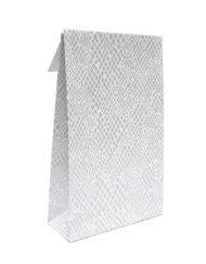 50 stykker Gavepose Papir Slange med klæbestrimmel og krydsbund 10x15,7x4 eller14x23x5,5cm