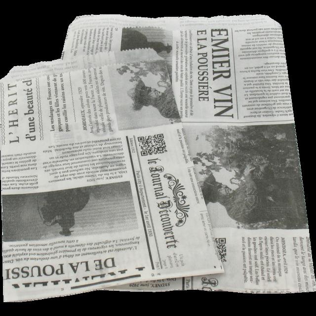 1000 stykker Papir Poser, Fransk Avis