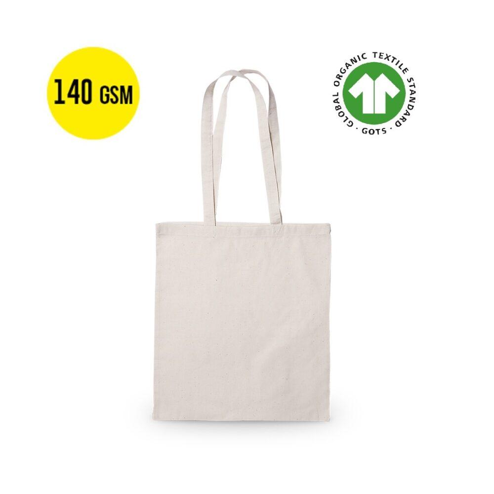 50 stykker Størrelse Bomuldstaske økologisk140 gram Kvalitet, Størrelse 37x41cm
