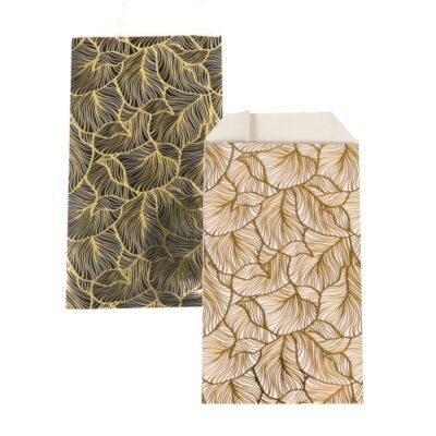 150 Stück Papiertüten Goldene Blätter