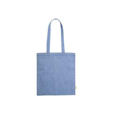 50 st 100% Genanvendt Bomulds Indkøbstaske i 4 Farver blu (2)