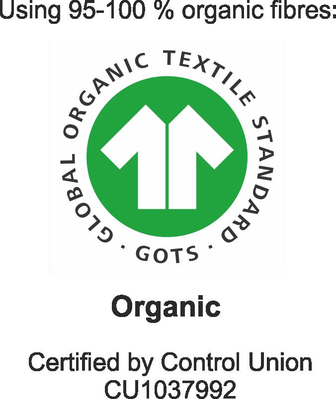 GOTS logo inc licentie nummer
