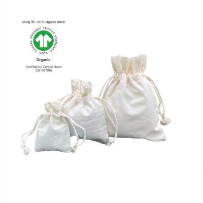Økologiske bomuldsposer 116 gr m2