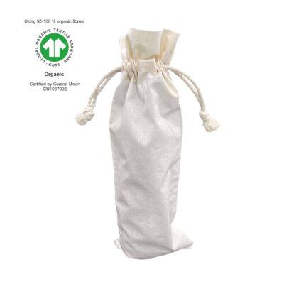 50 stykker Vinflaskepose Økologisk bomuld 15x38cm